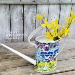 simple decoupage watering can project
