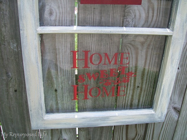 vinyl phrase repurposed window project