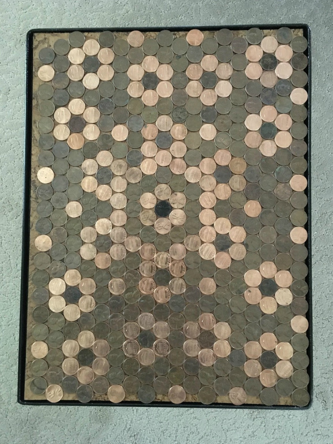 making a penny table