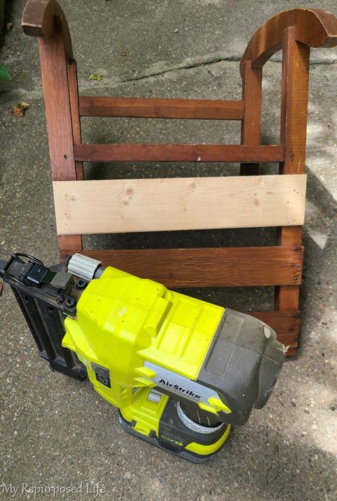 nail gun and rocking chair repair
