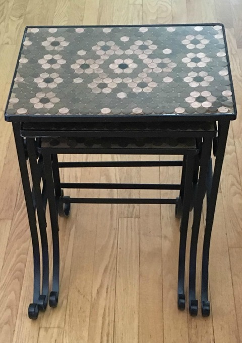 nested penny top tables