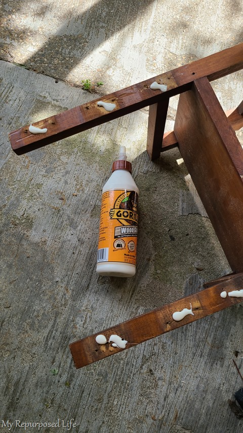 replacing back on rocking chair