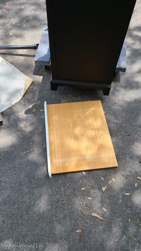 scrap board as shelf
