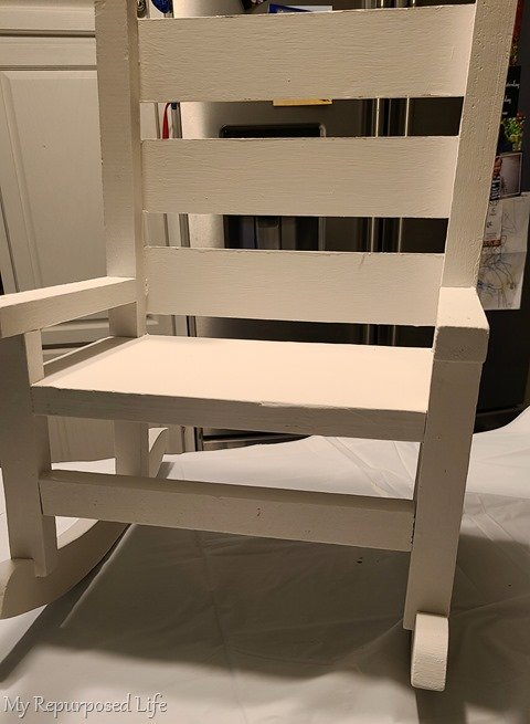 small white doll rocking chair