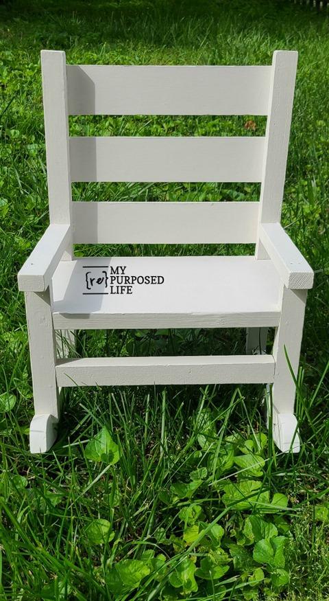 white doll rocking chair MyRepurposedLife