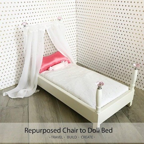 Doll-bed-from-a-chair-repurposed