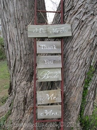 craft display ladder