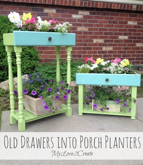 drawers spindles porch planters