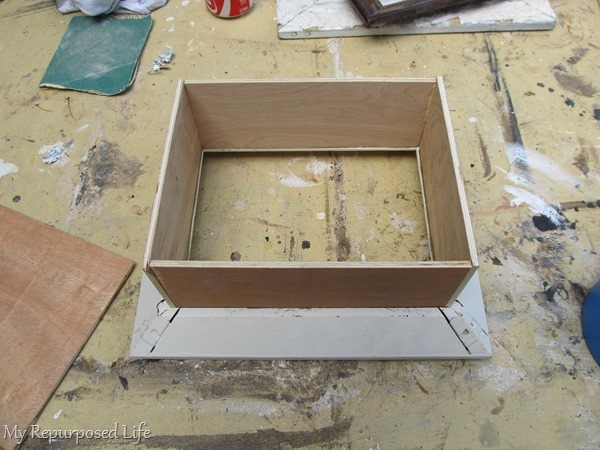test fit pieces for shadow box