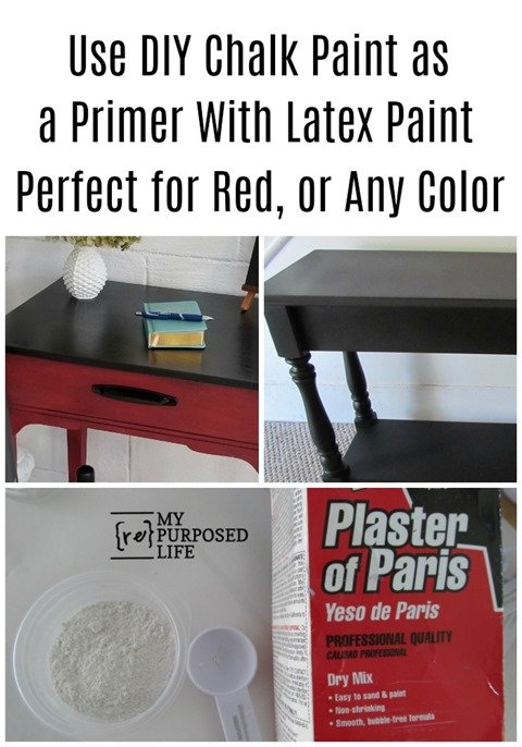 When you mix your own latex wall paint with plaster of paris as a chalk paint, you're missing out on the best part of furniture flipping! Using the homemade mixture as a PRIMER will save you time! Start with the DIY chalk paint, but end with the latex paint without plaster for the easiest and best outcome! #MyRepurposedLife #diy #chalkpaint #homemade #furnitureflipping #easy #painting #furniture via @repurposedlife