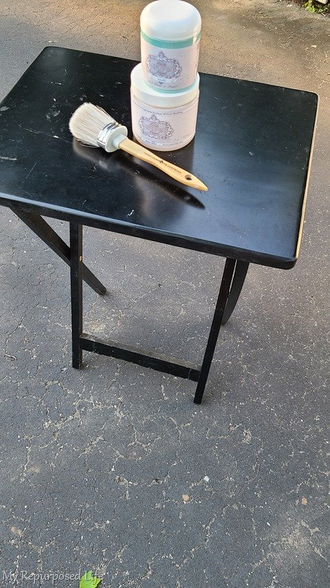 tv tray table makeover