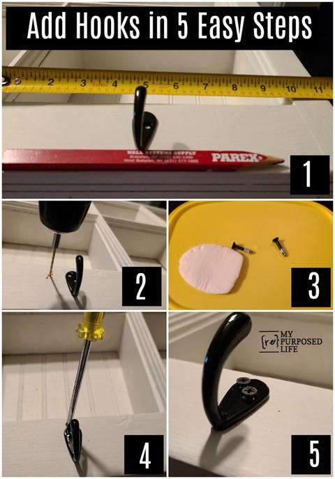 add hooks in 5 easy steps MyRepurposedLife