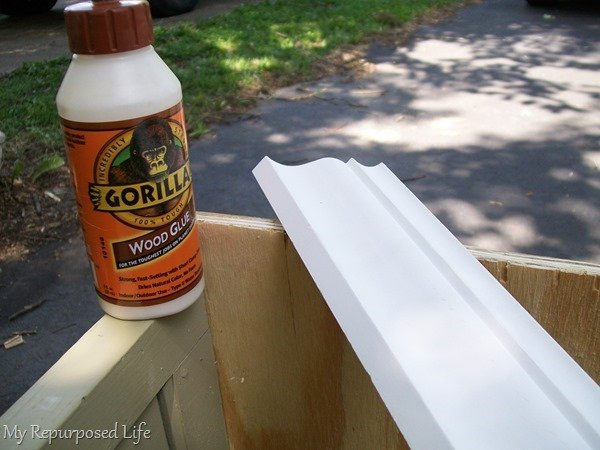 add trim with gorilla wood glue