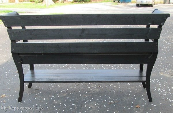 back of double chair bench
