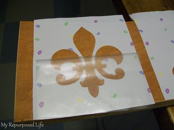 contact paper stenciling