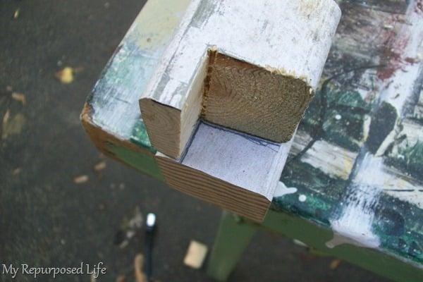 legs for shutter garden bench