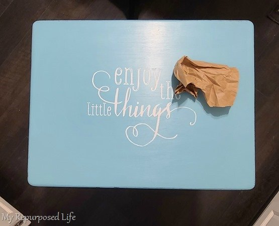 enjoy the little things tv tray table makeover