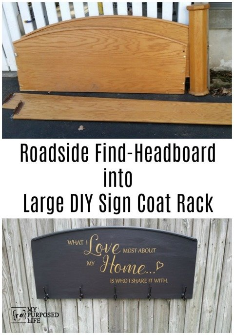large headboard sign coat rack what I love most about my home MyRepurposedLife