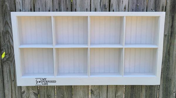 shadow box made from a window MyRepurposedLife