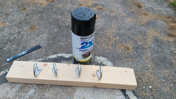 spray paint coat hooks