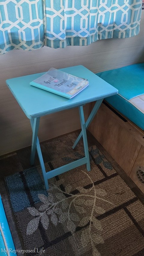 tv tray table makeover for camper