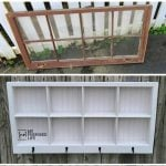 Shadow Box Hook Shelf | Repurposed Window