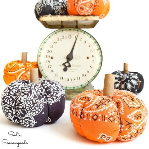 Fall Decor Ideas Fabric Pumpkins