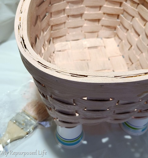 TIP rest basket on cups - allow it to dry