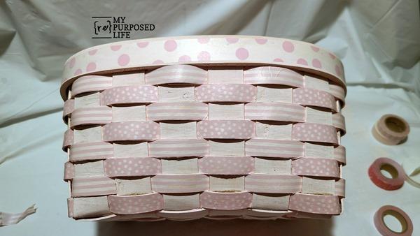 Washi tape basket