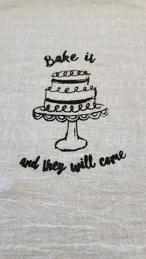 bake it and they will come flour sack towel