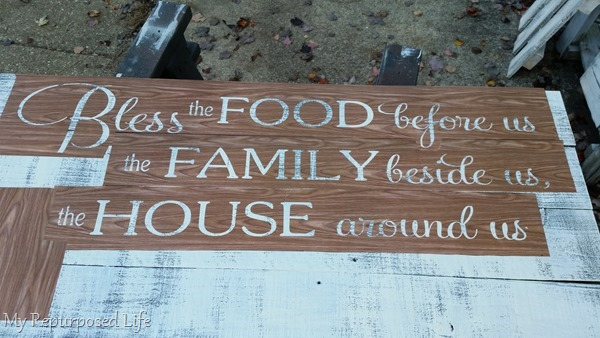 bless the food rustic sign contact paper stencil