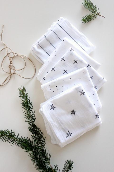 delia creates hand decorated tea towels