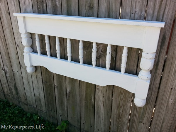 white bunk bed shelf