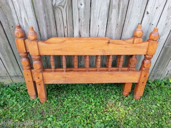 old bunk bed-new coat rack shelf