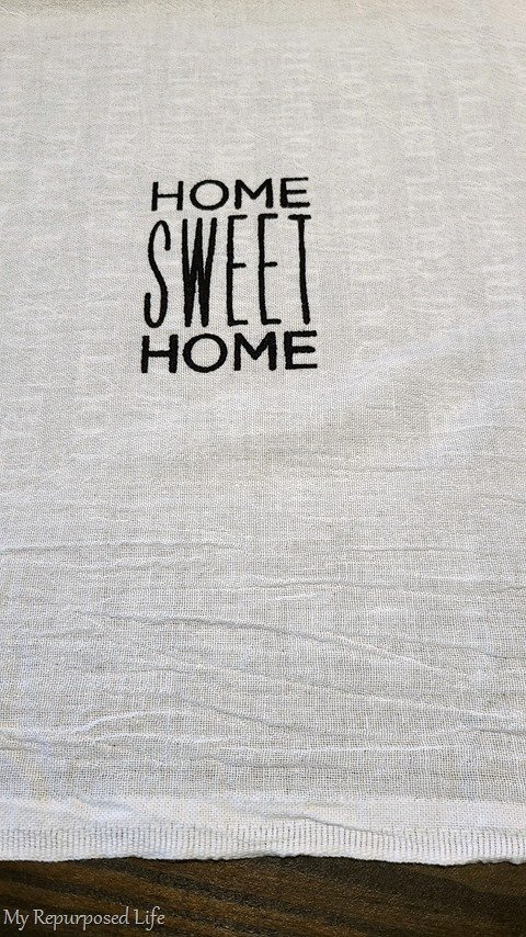home sweet home flour sack towel