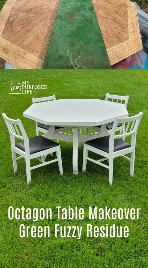 how to remove old residue left from table pad MyRepurposedLife