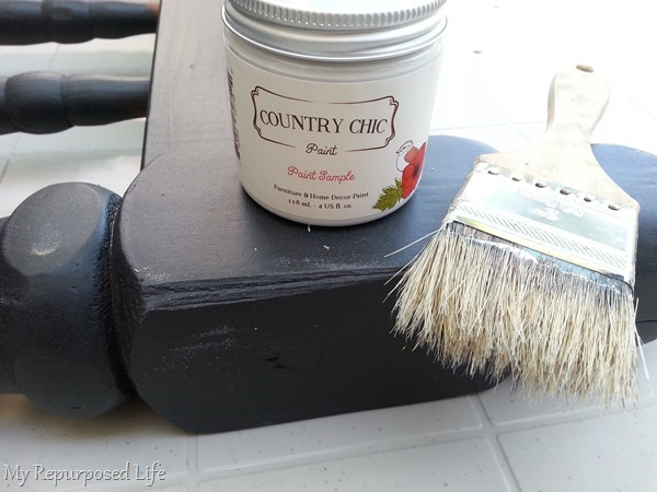 painting white top coat over black base coat