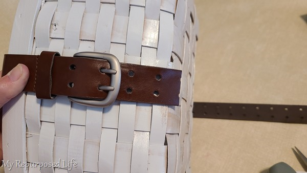 trim leather belt to size
