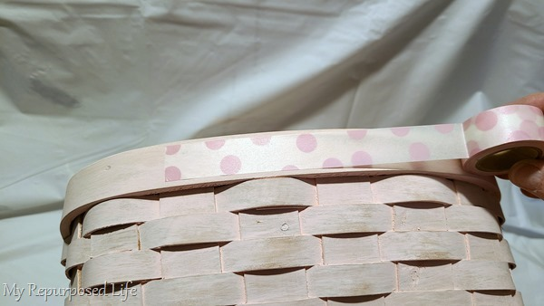 using wide polka-dot washi tape