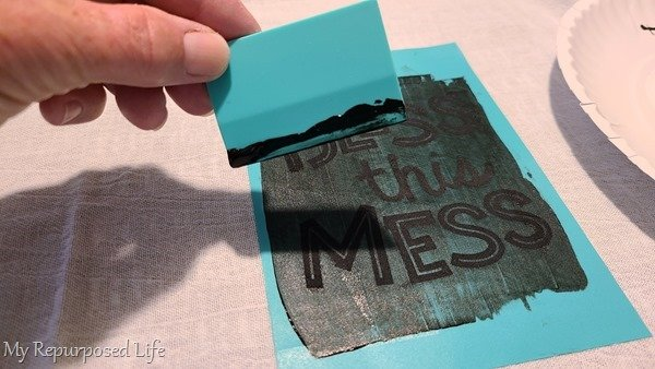wipe off excess ink