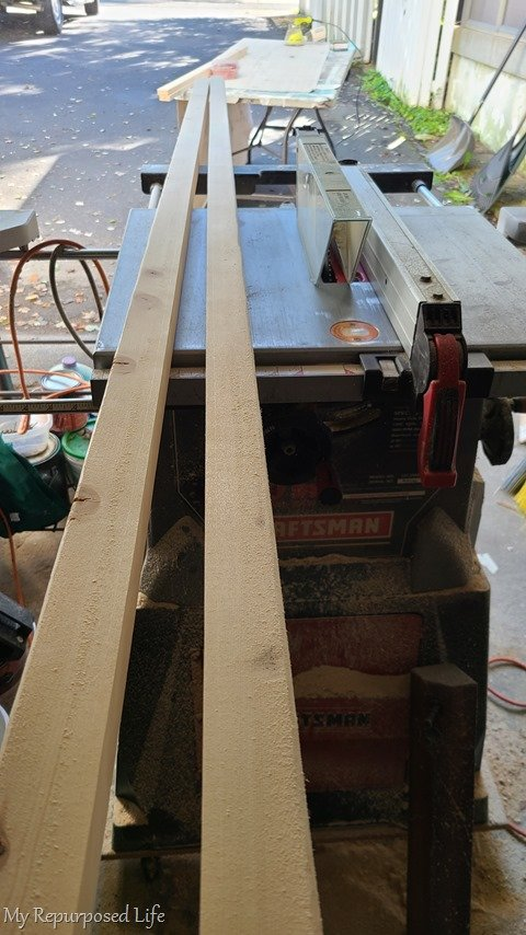 2x4 ripped on table saw