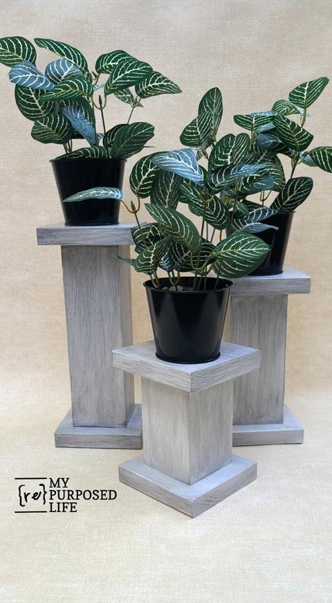 4x4 posts glazed pedestals MyRepurposedLife