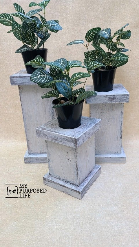6x6 plant pedestal MyRepurposedLife