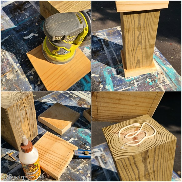 assemble 6x6 chunky candle pedestal