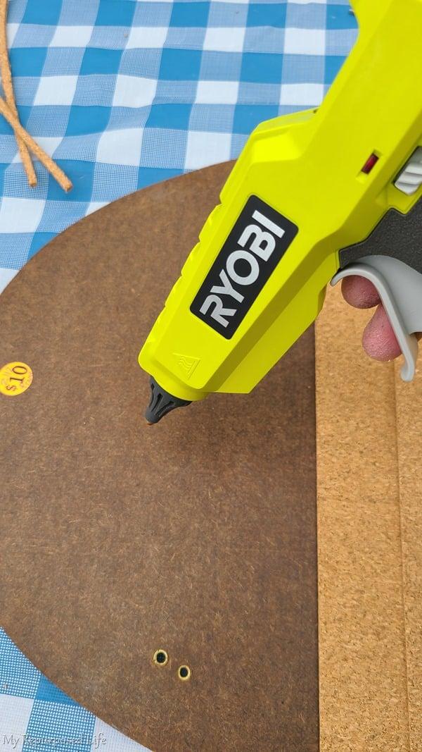 hot glue cork board