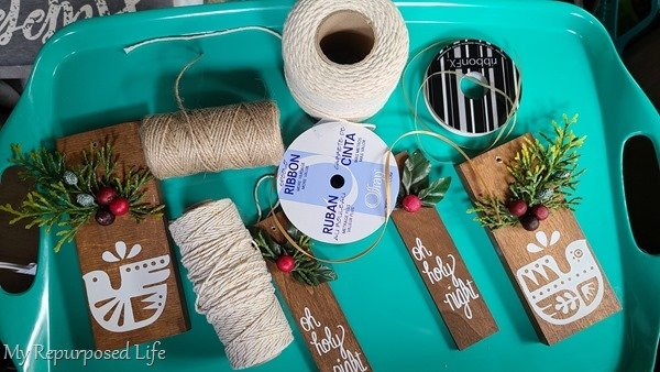 scrap wood ornaments embellishments and twine