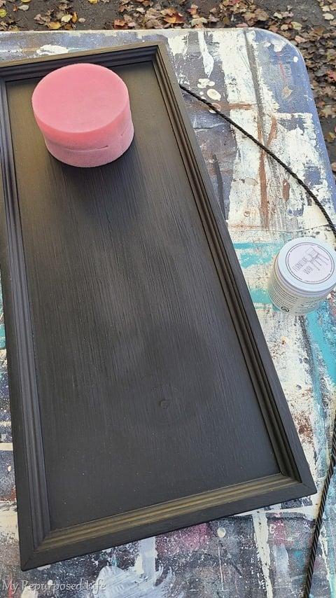 waxing chalk paint