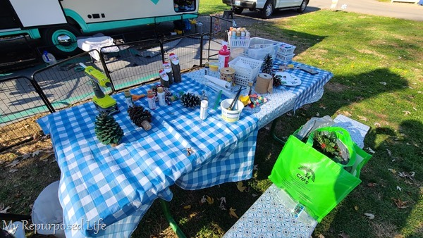 crafting while camping