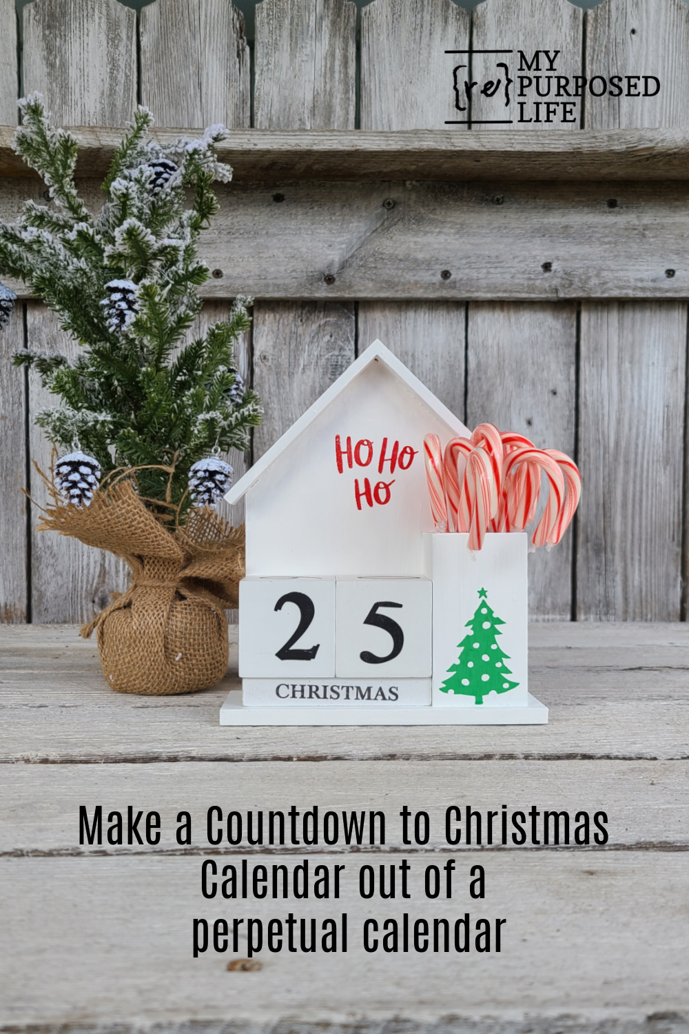 How to turn a perpetual calendar into a countdown to Christmas project. An easy project that the kids could even help with. #MyRepurposedLife #repurposed #Christmas #countdown #calendar #easy via @repurposedlife