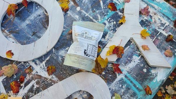 paint joy letters with milk paint